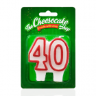 NUMBER 40 CANDLE