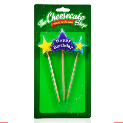 STAR PICK CANDLE HAPPY BIRTHDAY