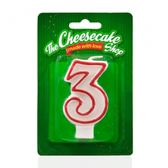 NUMBER 3 CANDLE
